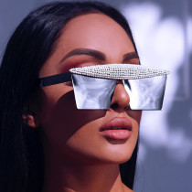 Handmade diamond Sunglasses fashionable square Sunglasses