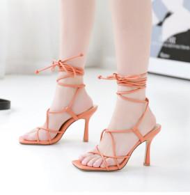 Copy Crisscross lace stiletto sandals 839659-2