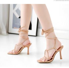 Crisscross lace stiletto sandals 839659-3