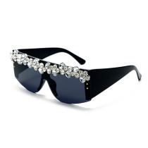 Big frame, handmade, grape drill, sunglasses, personality, glasses, sunglasses