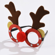 Christmas, glasses, antlers, snowman, snowflake, Christmas tree, Santa Claus, holiday party