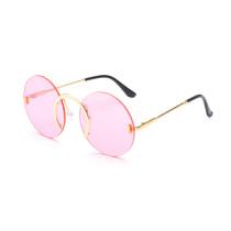 Frameless, round, street shot, sunglasses, funny