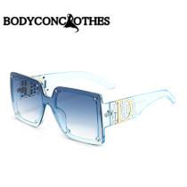 Big frame, fashion, sunglasses, diamond, sunglasses, color
