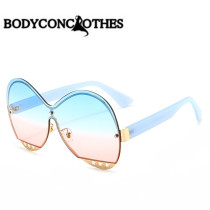 Round frame, sunglasses, fashion, hollow out, star, decoration