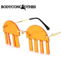 Personality, sunglasses, frameless, pendant, sunglasses