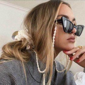 Jewelry, irregular, imitation pearl, Eyeglass Chain, hanging neck, anti dropping eyeglass rope