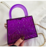 Acrylic, transparent, box bag, small square bag, portable, single shoulder, messenger bag
