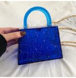 Acrylic, transparent, box bag, small square bag, portable, single shoulder, messenger bag