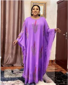 Muslim, style, crew neck, Batman shirt, chiffon, hot diamond, Cape, robe, dress
