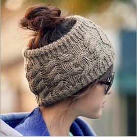 No top, twist, knitting, wool, hat, fashion, headband, warmth, headwear