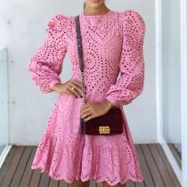 Cut out, short skirt, slim fit, celebrity, lace, dress