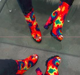Color Printing  platform boots