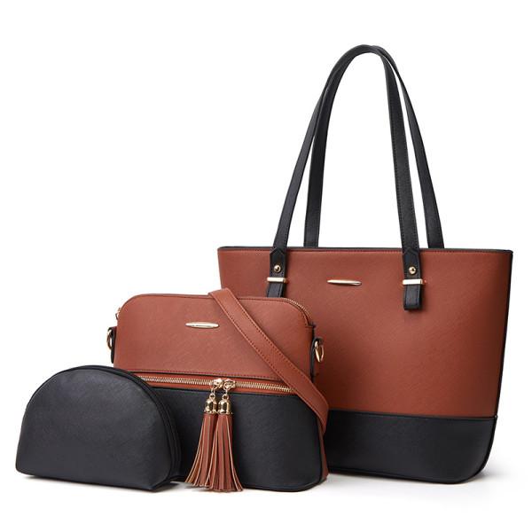 Three piece set, single shoulder, straddle, portable, women's bag