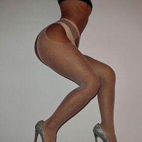 Silk stockings, hot drill, sexy, open gear, net pants, fine mesh belt, drill socks