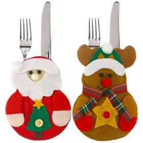 Christmas, decorations, supplies, restaurants, hotels, Christmas, elk, the elderly, knife and fork bags, cutlery sets