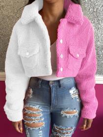 Jacket, stitching, color matching, coat