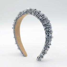 Headdress, thickened, headband, handmade, woven, crystal beads, crystal hairband