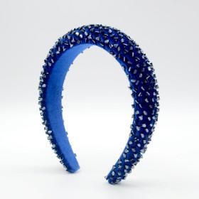 Crystal hairband, simple, elegant, wide edge, fashionable, hand sewn, sponge, headband