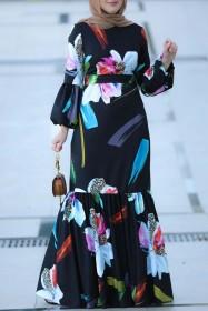 Southeast Asia, printed, long, dress, Muslim