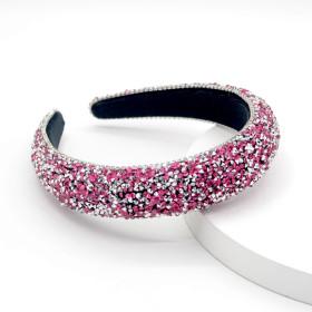 Headband, full drill, sponge, band drill, hairband, wide side, water drill, hairband