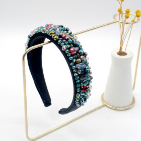 Hairband, sponge, wide edge, handmade, Rhinestone, headband