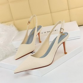 Fashion, simplicity, banquet, stiletto, high-heeled, hollow out, back strap, high-heeled shoes