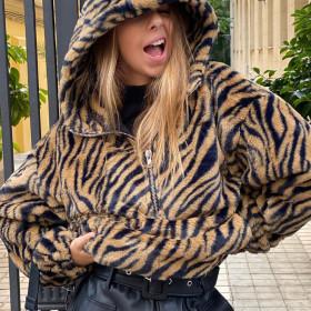 Zipper, hood, loose fitting, sweater