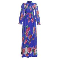 Chiffon, print, swing, dress