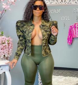 Top, sexy, camouflage, cardigan, coat