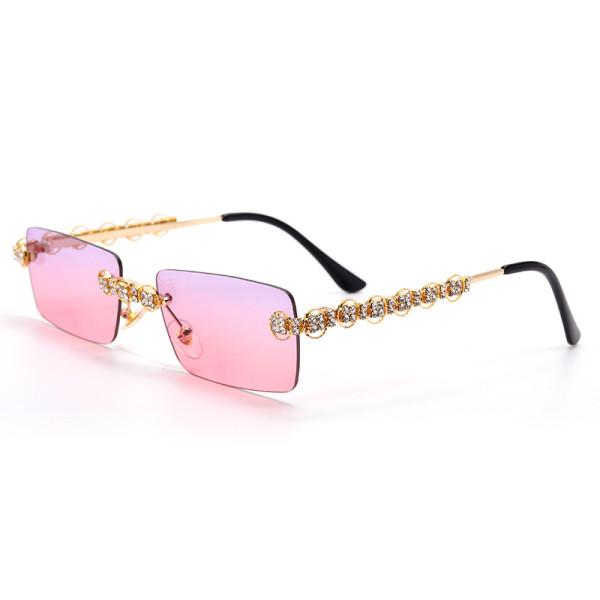 Retro, small box, sunglasses, ocean film, handmade, diamond inlaid, sunglasses