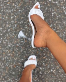 Fashion, fold, glass heel, sandal