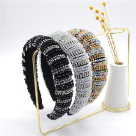 Baroque, color, diamond, headband, sponge, luxury, diamond, crystal, hairband