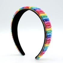 Gorgeous, rainbow color, hairband, color, handmade, beaded, wide edge, hairband
