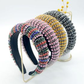 Diamond, gem, hairband, sponge, wide edge, handmade