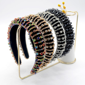 Baroque, diamond, hairband, diamond, headband, dance, fashion, show, crystal hairband