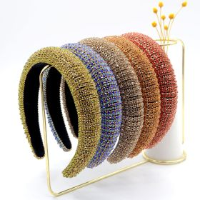Baroque, headband, full drill, sponge, band drill, wide side, water drill, hairband