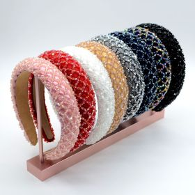 Baroque, wide edge, diamond headband, sponge, crystal headband