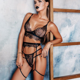 Fashion, sexy, three piece suit, lace, perspective, three-point style, sexy underwear