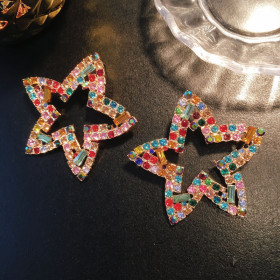 Big earrings, diamond, earrings, high-grade, earrings