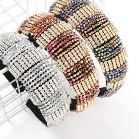 Exaggeration, fashion, alloy, inlaid diamond, Rhinestone, hairband