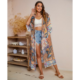Loose, short sleeve, bohemian, shawl, sunscreen