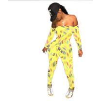 Color, print, sport, slim, breast wrap, jumpsuit