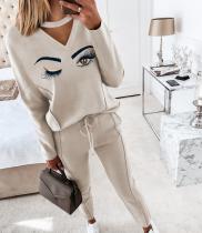 Eye, print, casual, suit