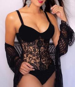 Lace, sexy, one-piece, suspender, underwear