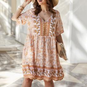Bohemian, loose, dress