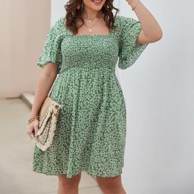 Printed, slim, medium length skirt