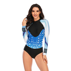 One piece, long sleeve, surfsuit, sunscreen, diving suit, sexy, swimsuit