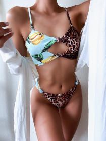 Fruit, print, bikini, swimsuit, leopard print, swimsuit