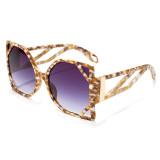 Cat's eye, modeling, sunglasses, personality, sunglasses, big frame, sunglasses