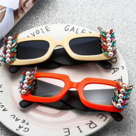 Flat mirror, mixed color, color diamond, decorative mirror, sunglasses